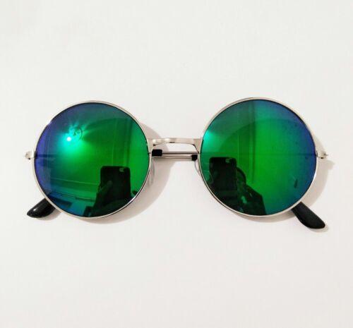 Men// Women Retro Sunglasses Circle Mirrored Cool Colorful Unisex Driving Eyewear