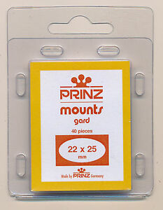 Prinz Scott Stamp Mounts Size 22/25 BLACK Background Pack of 40
