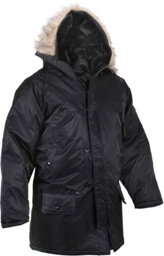 Cold Weather N-3B Military Snorkel Parka Jacket Long Insulated N3B Winter Coat