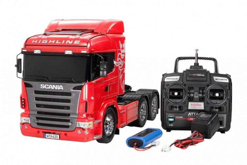 primera vez respuesta Tamiya RC Big camión camión camión serie No.22 Scania R620 6x4 High Line Set Completo De  descuento de bajo precio