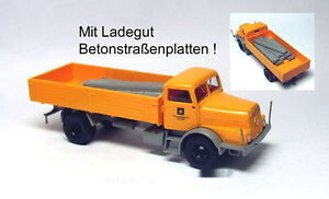 MCZ-IFA-H-6-Ladegut-Betonstrassenplatten-VEB-BMK-Kohle-Scale-1-87-NEU-OVP