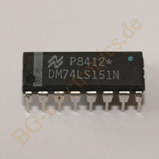 74LS151 TTL 16 Pin DIP IC:1 of 8 data selector multiplexer 4//Lot