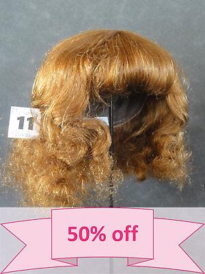 "Human Hair DOLL WIG size 12.6/"" Mi-Long red-brown hair. 32 cm DISCOUNT 50/%"