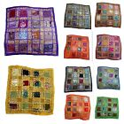 Patchwork Pillow Cases Indian Throw Boho Decor Cushion Cover Ethnic Art