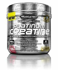 MuscleTech Platinum Creatine Powder 80 Servings Essential Series Unflavored