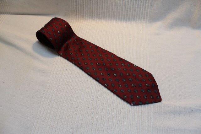 KR6226 Atelier Torino Krawatte Weinrot Weiss Grau Individualisiert Sehr gut