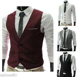 Caricamento dell immagine in corso Moda-Uomo-Formale-Business-Vestito-Casual -Canotta-Abito- 302ed984e56