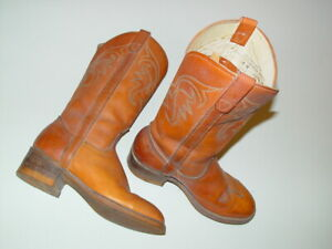 Vintage-Royalettes-Leather-Western-Campus-Boots-5-M