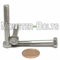 M6-1.0 X 45mm - Qty 10 - Din 931 Hex Cap Bolt / Screw - Stainless Steel A2-70
