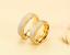 Anello-Coppia-Fede-Fedi-Fedine-Fidanzamento-Matrimonio-Acciaio-Oro-Argento-Love miniatura 2