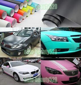 Optional-Flat-Entire-Car-Matte-Finish-Vinyl-Wrap-Film-Sheet-Sticker-Decal-AB