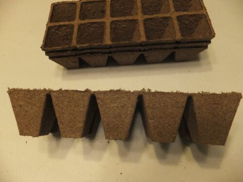 10 cells per strip fills 10 flats seedling 500 cells Jiffy Strips peat pots