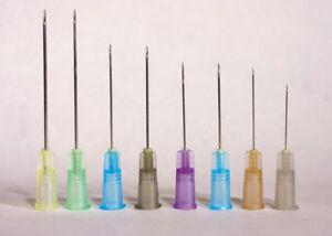 Needle-STERILE-Box-of-100-All-Sizes-Gauges-NIPRO-Blunt-Luer-Lock-No-Syringe