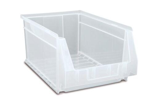 Stapelboxen Lagersichtkasten Lagersichtbox Sichtlagerkasten 17x10x8 transparent