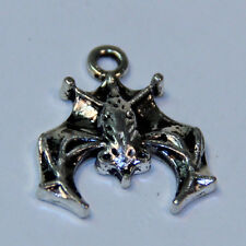 Small Bat - Pewter Pendant- Great detail - Necklace or keychain Bat Charm