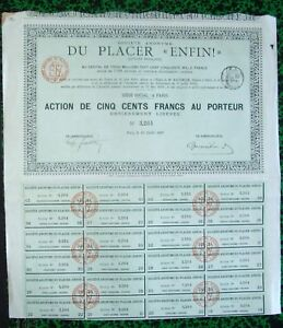 Lot de 2  Ste Minière Algérie /& Paris 1926 /& 1928 Mines de Plomb Djidjelli