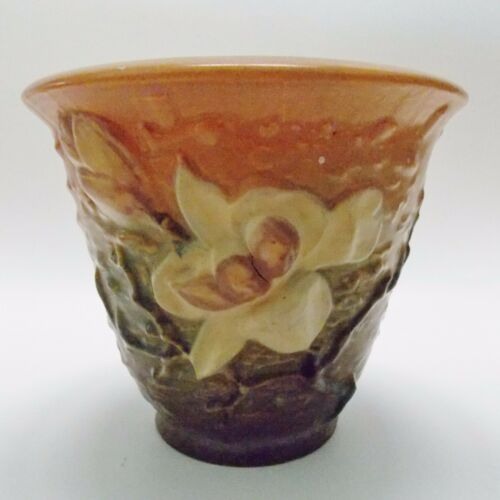 Big Bargains On Authentic Antique Roseville Magnolia Vase 5 18