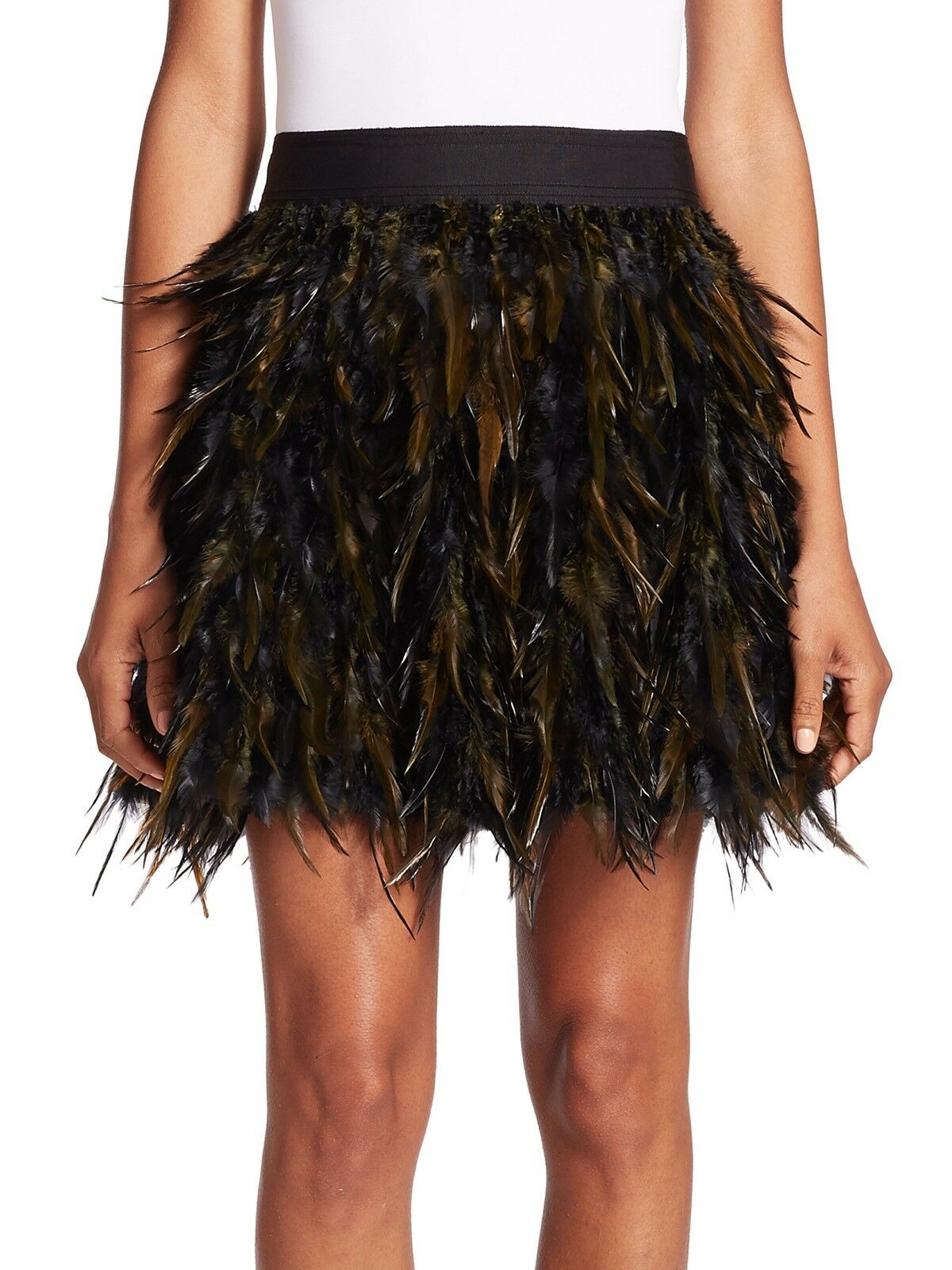Alice + Olivia Cina Feather Skirt Size 0 NWT