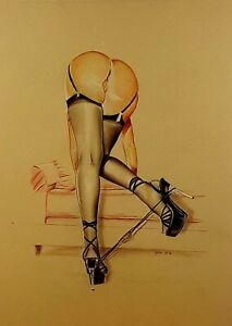 Pin-Up-Print-Of-The-Original-Hot-Erotic-Draw-MeCos-Art-Limited-Edition-E117
