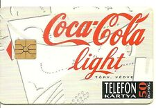 RARE / CARTE TELEPHONIQUE - COCA COLA LIGHT / PHONECARD
