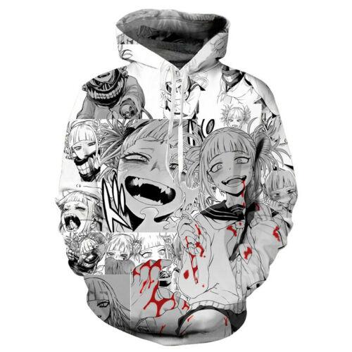 2019 New Anime Ahegao Hoodie Sweatshirt Hooded Pullover Unisex Cosplay Costume