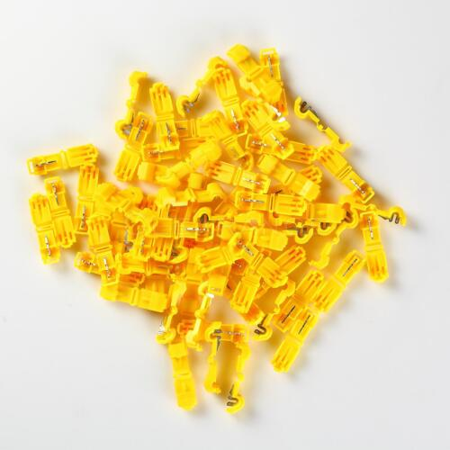 T-TAP Quick Wire Connectors Yellow 12-10 AWG Gauge Car Audio Terminal 100pcs