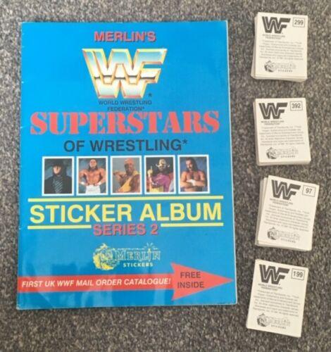WWF merlin 1992 bleu stickers CATCH WCW WWE Spares