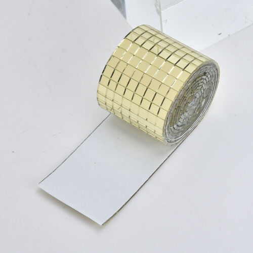1464 pieces of 1*4 cm Square Tiles Glass DIY Self Adhesive Mirror Mosaic Tiles