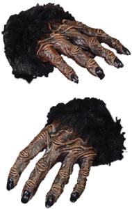 Pour Hommes Femmes Marron Gorille Singe Mains Déguisement Halloween Gants