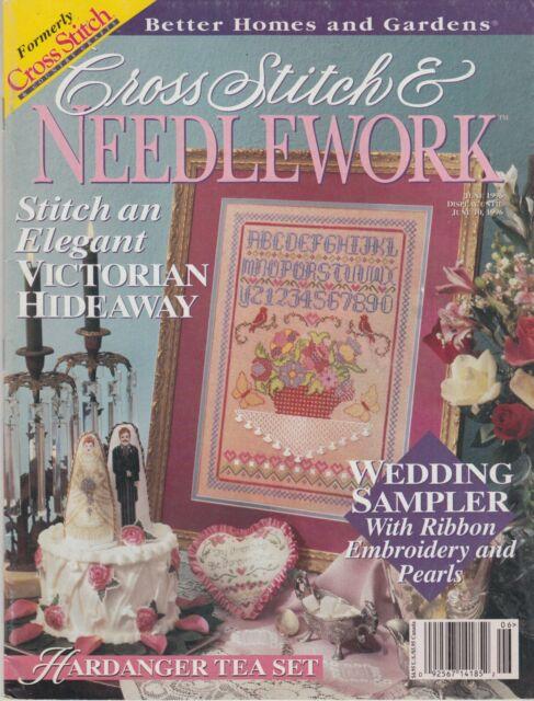 Cross Stitch & Needlework magazine June 1996 - samplers, florals, & more