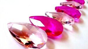 Lampadario Gocce Rosa : Fucsia e rosa a goccia lampadario cristalli shabby chic prismi