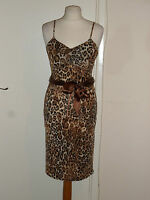 West One Animal Print Dress Size UK 10 Summer Holiday Wedding Party Worn Once