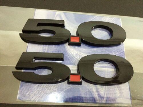 2 Mustang GT 5.0 Gloss Black Emblem Set F150 Coyote 5.0L Decal