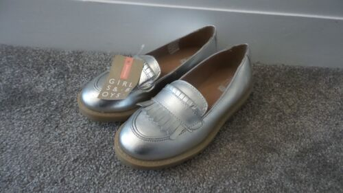 John Lewis Girl Maddy Platform Silver Shoes Brand New RRP £26