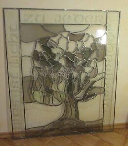 Glas & Kristall Gewidmet Bleiverglasung Yggdrasil Weltenbaum 88x105 Cm Groß Online Rabatt