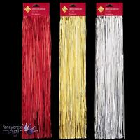 500 Strands Of 50cm Shiny Lametta Red Gold Silver Xmas Christmas Tree Decoration