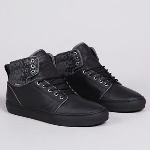 VANS Alomar (Croc Camo) Black Black Leather Skate Shoes Men s 6.5 ... 7a1c7215a