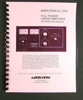 Ameritron Al-1200 Instruction Manual - Ring Bound With Protective Covers