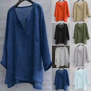 Mens-Brief-Breathable-Comfy-Solid-Color-Long-Sleeve-Loose-Casual-T-shirt-Blouse