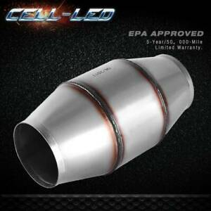 """Outlet Stainless Steel Catalytic Converter Exhaust Pipe EPA Universal 4/"""" Inlet"""