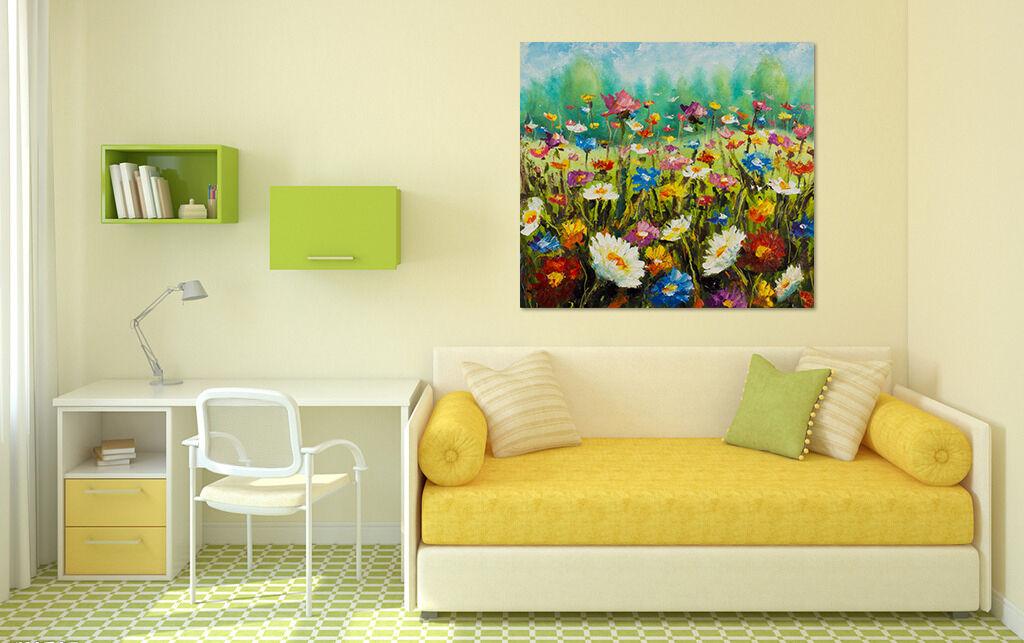 3D Schöne Farbe Blaumenfeld 855 Fototapeten Wandbild BildTapete AJSTORE DE Lemon