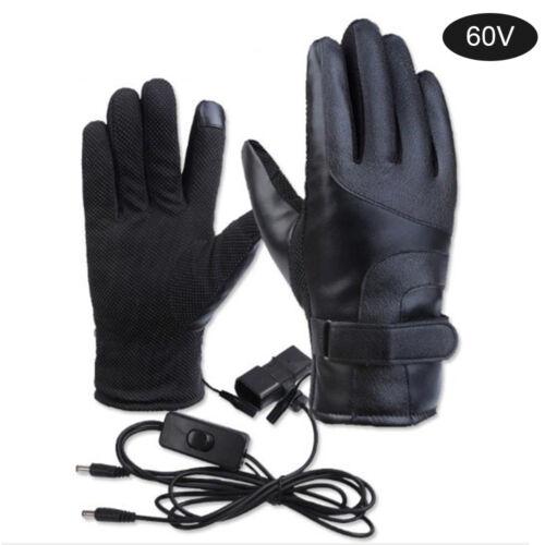 1807 Winter Warm Motorcycle Electric Heated Gloves Women Men Waterproof