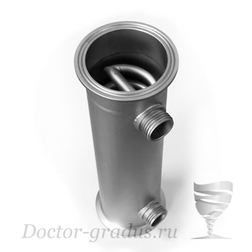 "Spiral Dephlegmator 2/"" Reflux G1//2 Length 200mm for moonshine still AISI304"