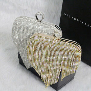 Image Is Loading Las Evening Bag Party Women Clutch Crystal Purse