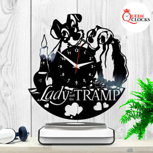 Details About Lady And The Tramp Walt Disney Home Decor Vinyl Record Wall Clock Kid Gift Ideas