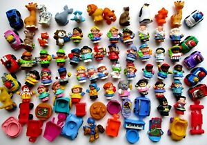 Fisher-Price-Little-People-HUGE-FUN-LOT-80-Figures-Animals-Pets-Cars-NO-2-ALIKE