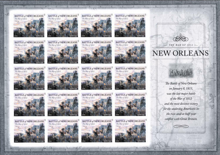 2015 49c The War of 1812: Battle of New Orleans Scott 4