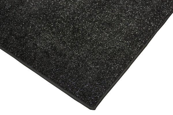 Glitzerteppich paillettes Tapis Velour 200x560 Noir