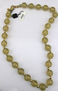 350-DOLCE-amp-GABBANA-D-amp-G-Gold-Tone-Lucite-Glittery-Large-Chunky-Beaded-Necklace