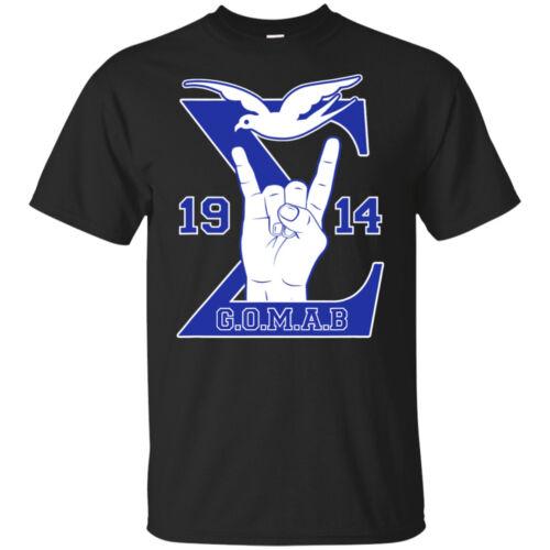 Mens Phi 1914 Beta Blu Sigma Gomab Dove Hand Sign T-Shirt Vintage Men Gift Tee